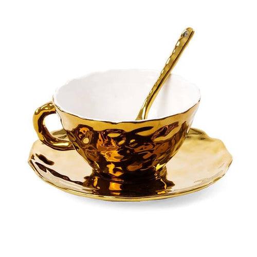 'Fingers' Gold Coffee Cup