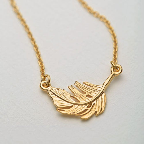 Alex Monroe Little Feather Necklace