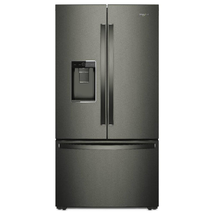 Whirlpool WRF954CIHV 20.0 CU FT., COUNTER DEPTH, INTERIOR WATER/FACTORY INSTALLED ICE, LED LIGHTING, 1 FIXED/4 ADJUSTABLE SHELVES, 2 HC CRISPERS, TEMP CONTROLLED PANTRY, 6 DOOR BINS, ENERGY STAR
