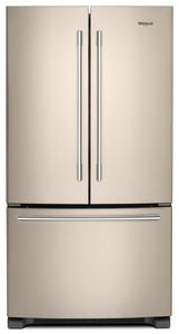 Whirlpool WRFA35SWHN 25.7 CU FT., EXTERIOR WATER AND ICE DISPENSER, LED LIGHTING, 1 FIXED/4 ADJUSTABLE SHELVES, 2 HC CRISPERS, TEMP CONTROLLED PANTRY, 6 DOOR BINS, ENERGY STAR
