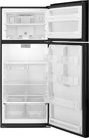 Whirlpool WRT518SZFB 18.2 CU FT., REVERSIBLE DOOR, ELECTRONIC TEMP CONTROLS, FLAT DOOR, OPTIONAL ICE, INCANDESCENT LIGHTING, 1 FIXED/2 ADJUSTABLE SHELVES, 2 HC CRISPERS, 6 DOOR BINS, ENERGY STAR
