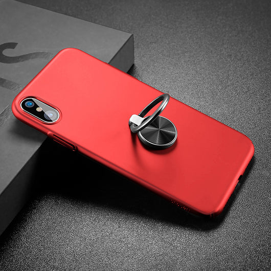 cheap for discount 1e242 428d9 iPhone X Ultra Thin Finger Ring Holder Case - Full Protective Kickstand