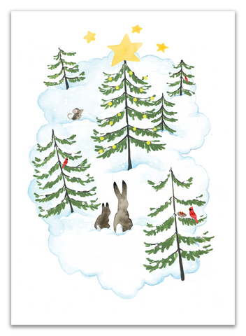 Bunny Forest Card - Pack of 10