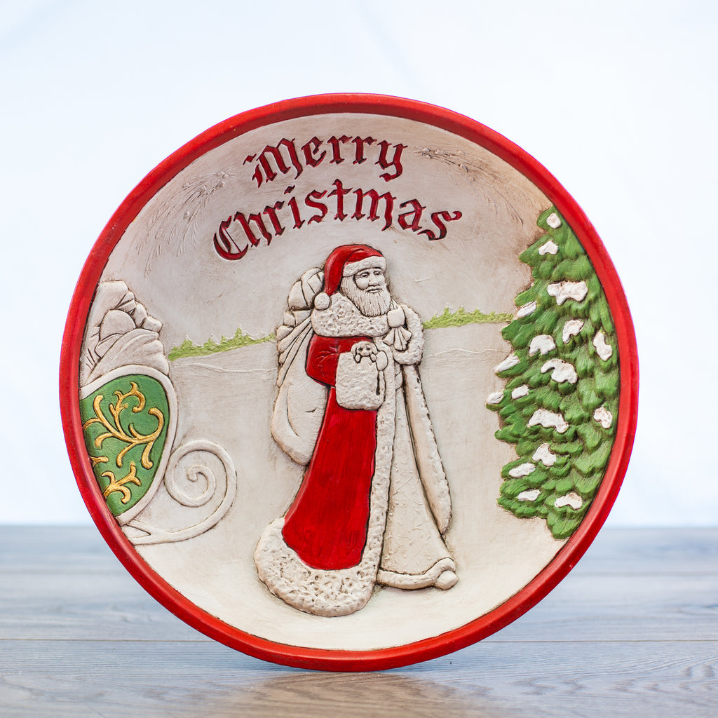 Merry Christmas Comfort Bowl with Santa Red