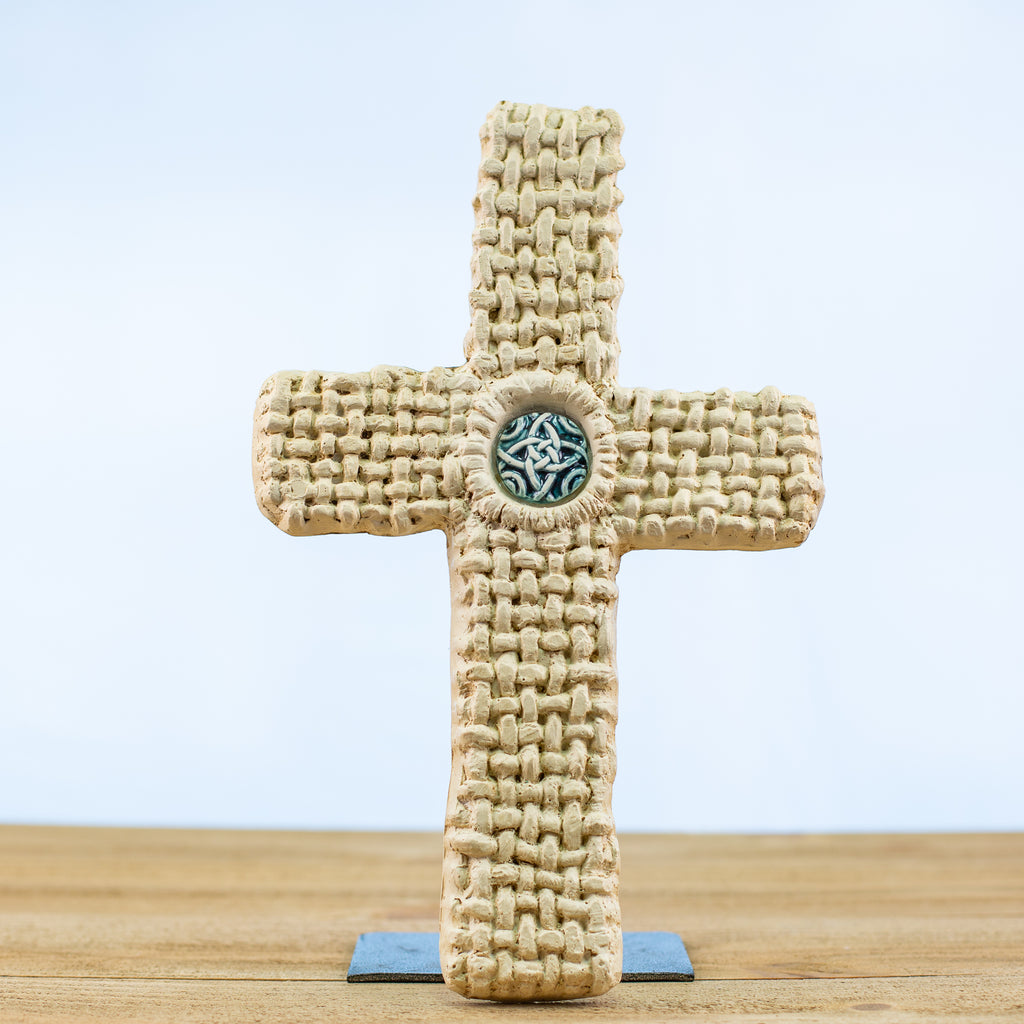 Cross with Basketweave Pattern