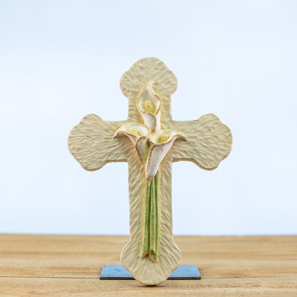 Cross with a Calla Lily