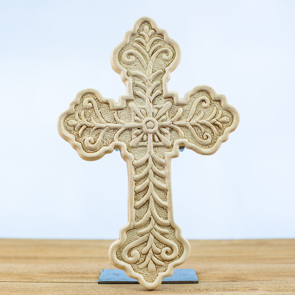 Cross with a Vine Design