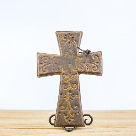 Cross with Engraved Design