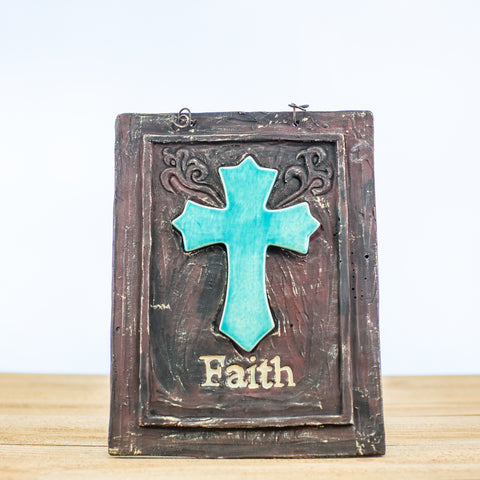 "Cross Sign with ""Faith"""