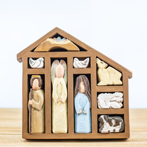 Nativity Puzzle with House