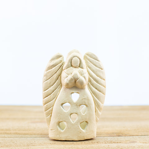Angel Candle Holder White