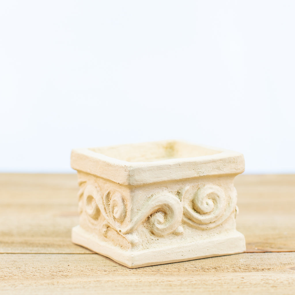 Tuscan designed square candle holder