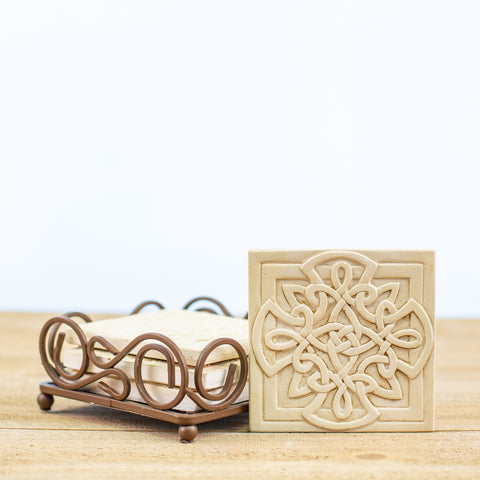 Coasters with Crosses and holder