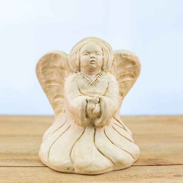 Short White Stonecast Angel