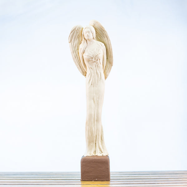 Angel Statue Tall in White