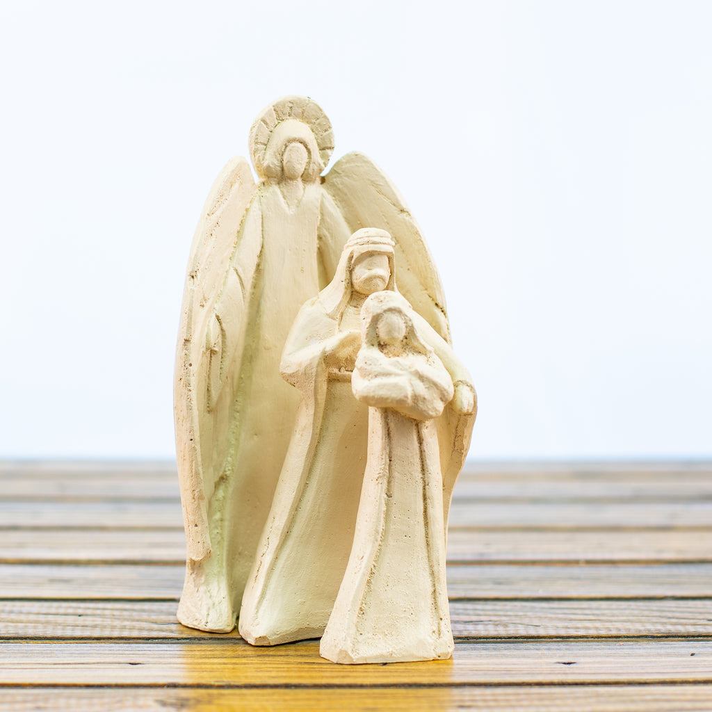 Holy Family Nativity 3 Piece Small White