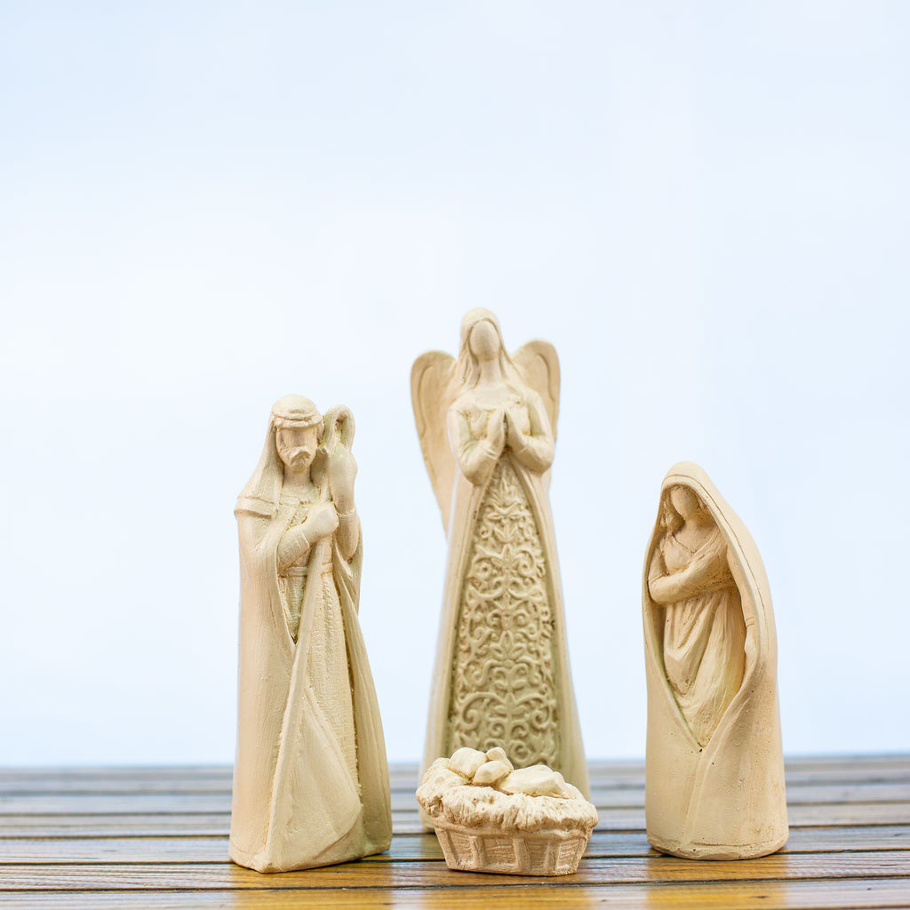 Nativity 4 Pieces White
