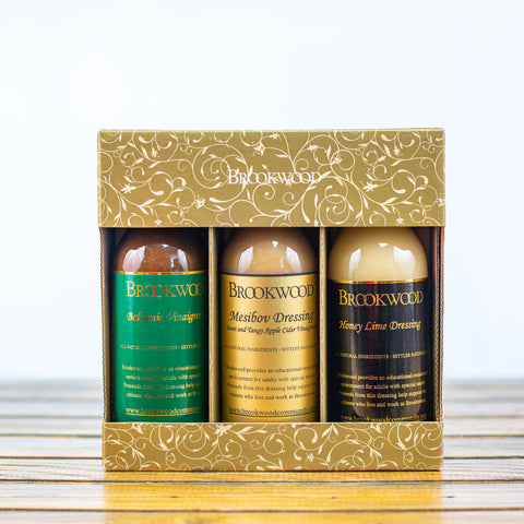 Brookwood Balsamic, Mesibov, and Honey Lime Dressing Bundle