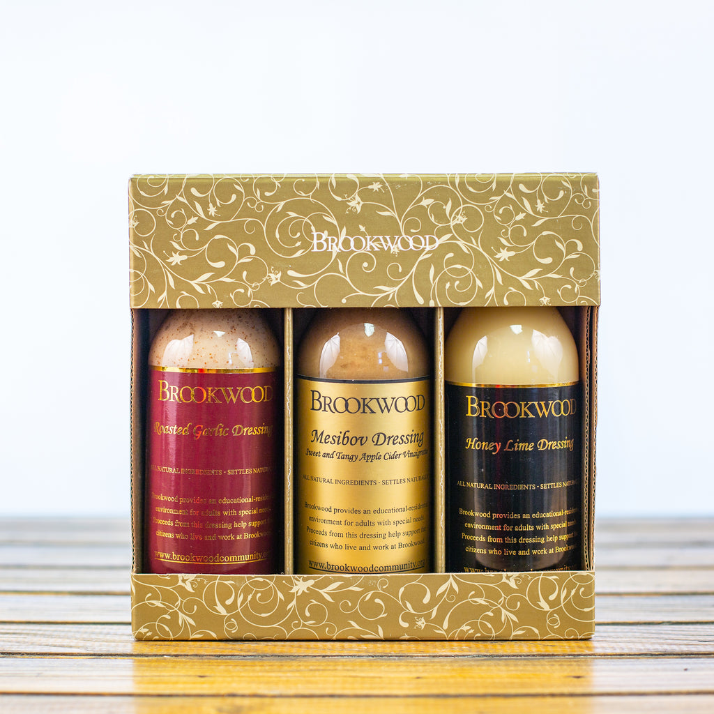 Brookwood Three Dressing Kit - Roasted Garlic, Mesibov and Honey Lime