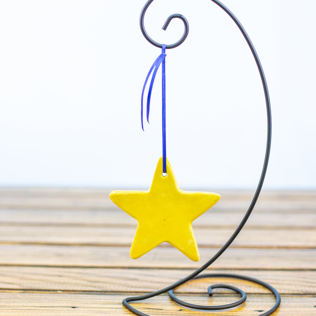 Yellow Star Ornament