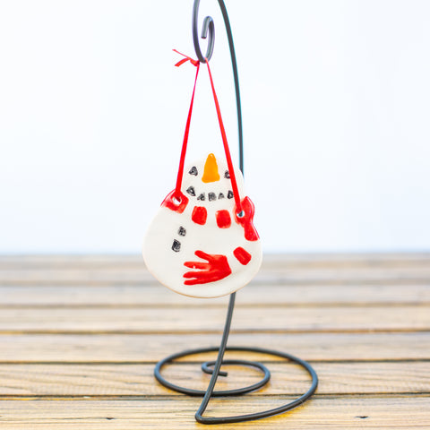 Snowman with a Scarf Ornament