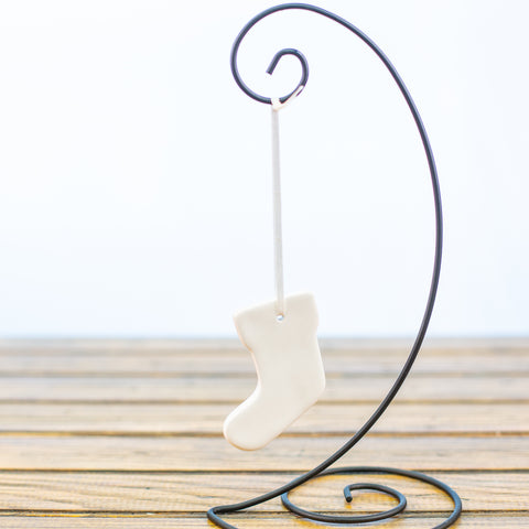 White Stocking Ornament