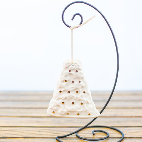 Wedding Cake Ornament with Gold