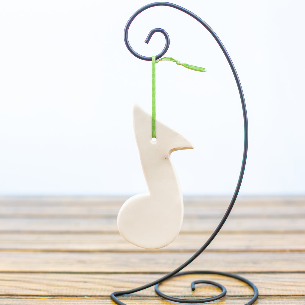 White Musical Note Ornament