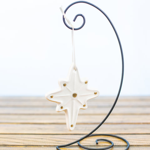 Star with Gold Dots Ornament