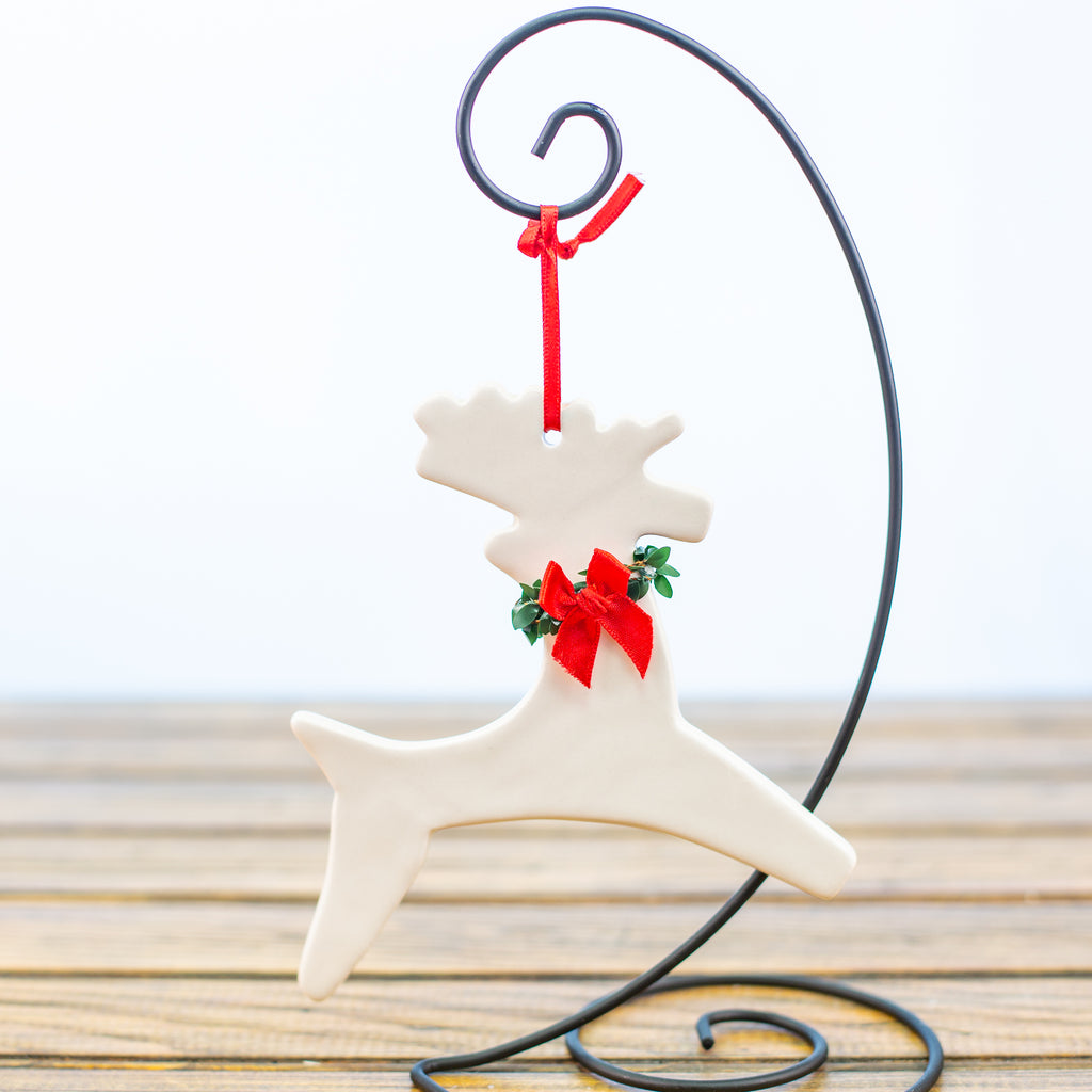 Reindeer with a Wreath Ornament