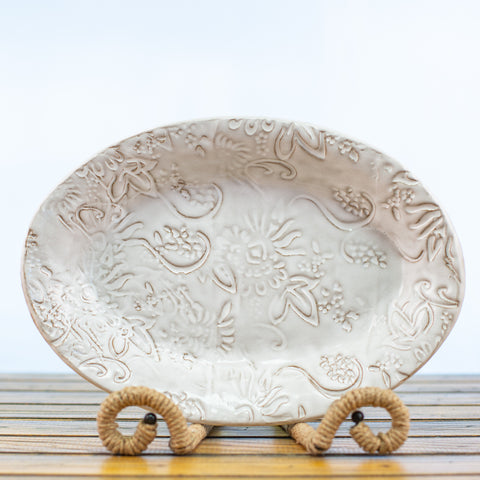 Ceramic Glazed Bowl white
