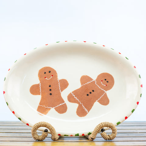 Platter with Gingerbread Men