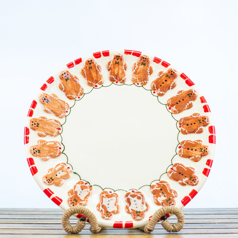 Platter Round with Gingerbread Cookie