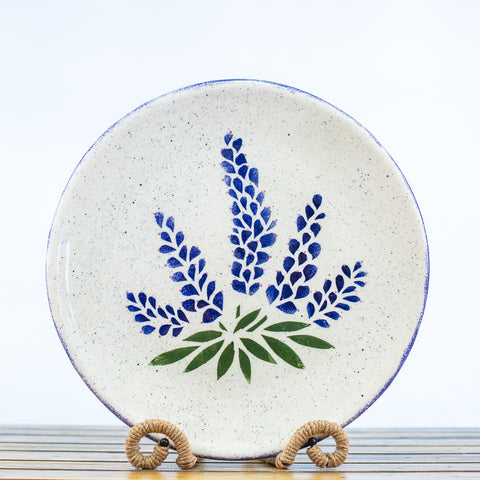 Platter with Bluebonnets Design