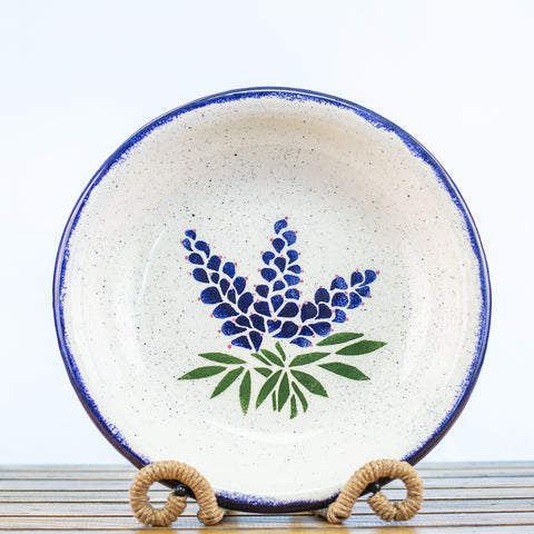 Pasta Bowl with Bluebonnet Design