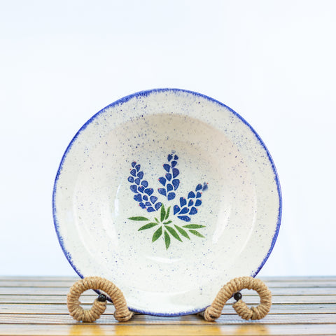 Serving Bowl with Bluebonnet Design