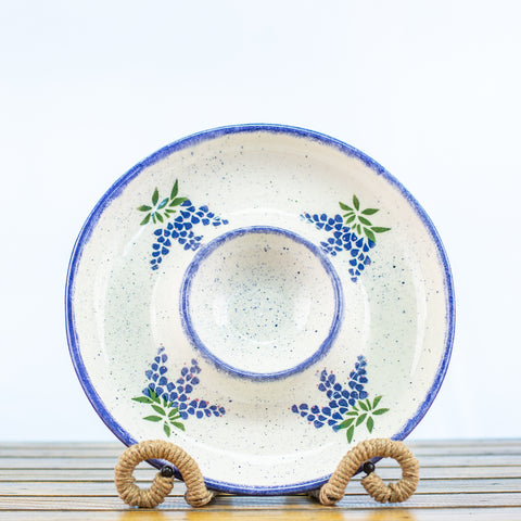 Chip and Dip Bowl with Bluebonnet Design