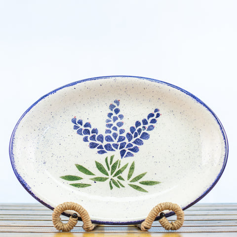 Platter with Bluebonnet Design