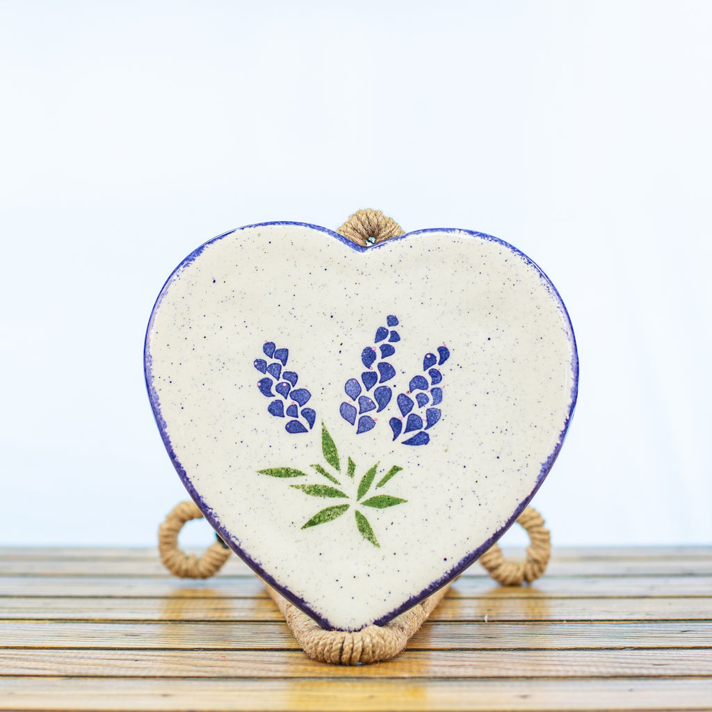 Trivet with Bluebonnet Design