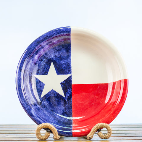 Pasta Bowl with Texas Design