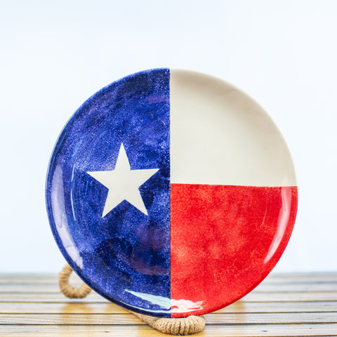 Plate with a Texas Design