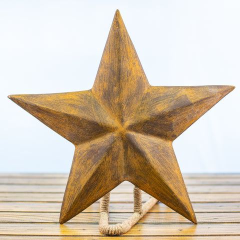 Brown Ceramic Texas Star