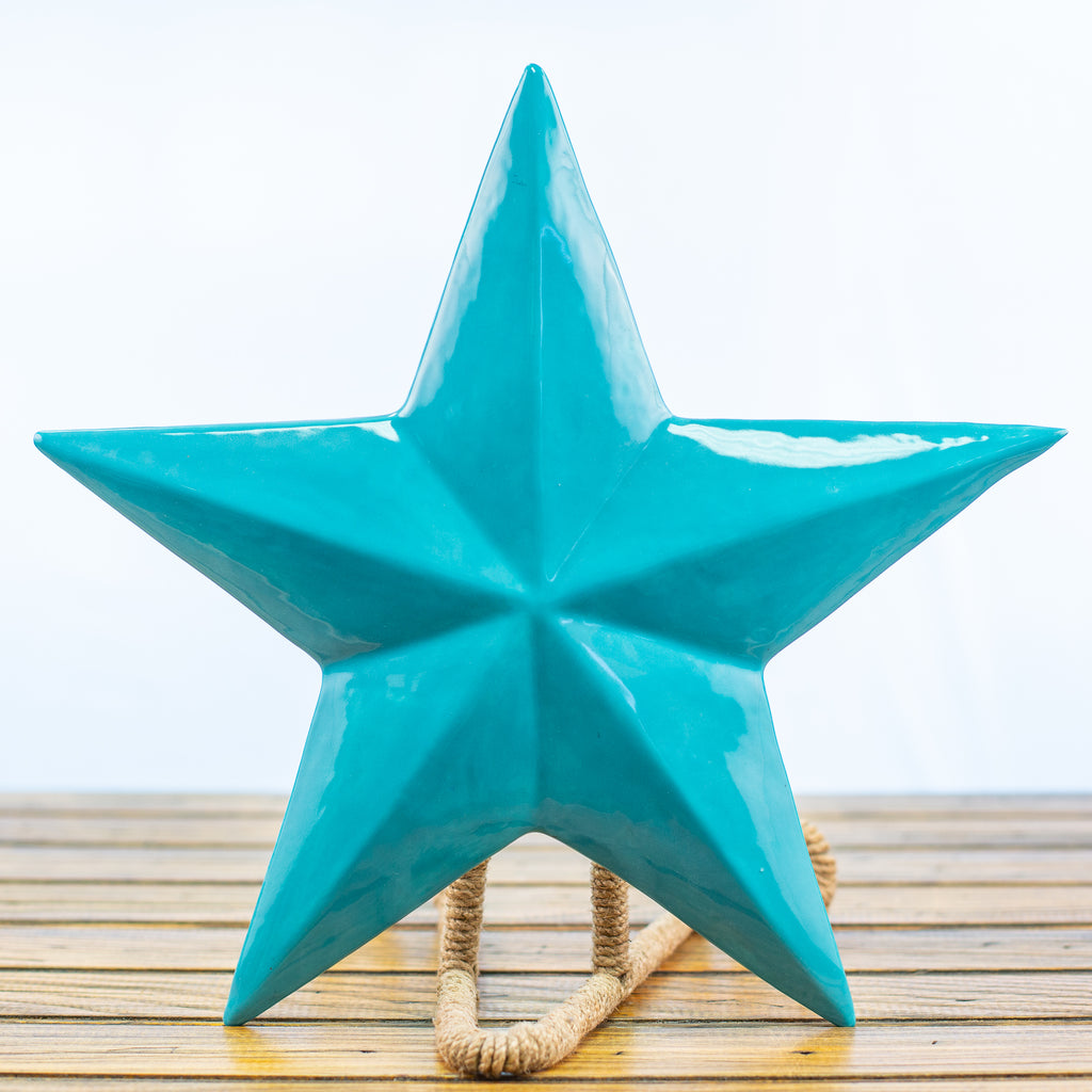 Turquoise Ceramic Texas Star