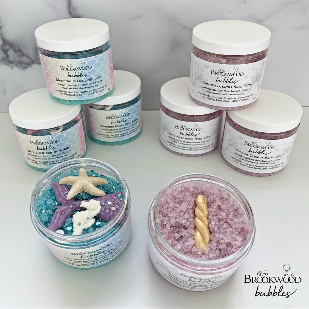 Bath Salts Brookwood Bubbles - Rose Quartz
