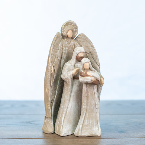 Holy Family Nativity 3 Piece Small Driftwood