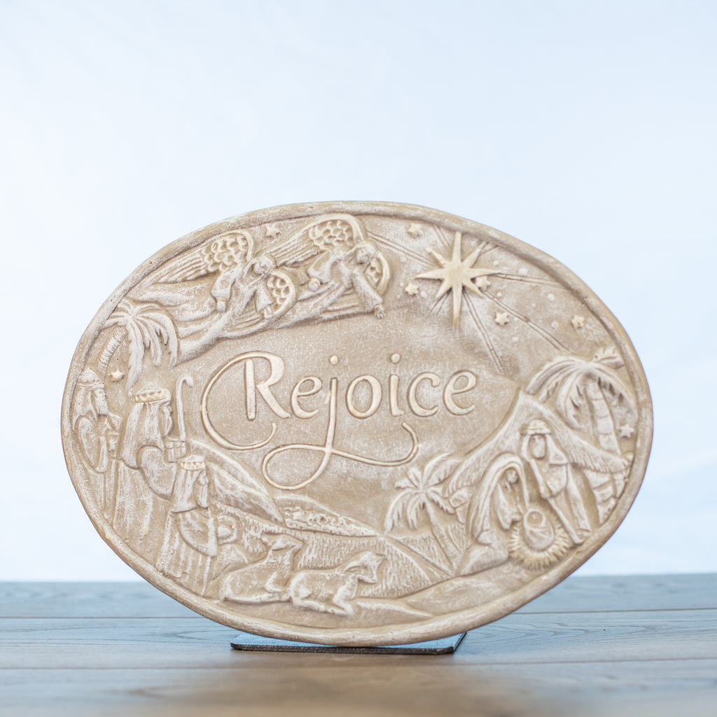 Rejoice Nativity Scene Plaque