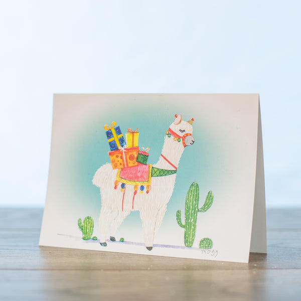Falallama Christmas Card PK of 10
