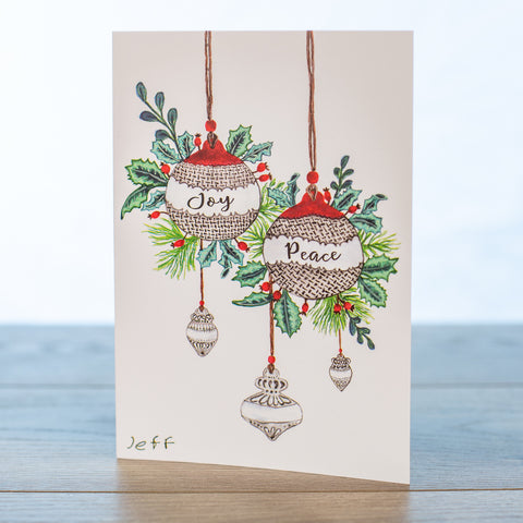 Ornament Christmas Card Pk of 10