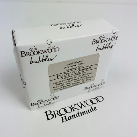 Bar Soap Brookwood Bubbles - Tea Tree & Charcoal