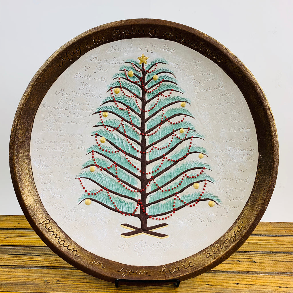 Comfort Bowl with Christmas Tree Driftwood